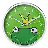 Hama Kinderwanduhr 'Froschkönig' grün/weiß