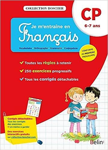 Livres gratuits en ligne Boscher, Je m'entraîne en français CP 2016 pdf