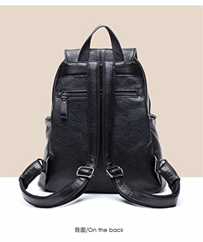 Soft Bag Anti theft Large Shoulder Gqfgyyl Leather Backpack Capacity Female Leisure q4FwZwU