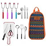 9-Piece Camping Cooking Utensils Set| CHANODUG Camping Cookware Utensils For Travel Kitchen,Camping Kitchen Set [Update 2.0]