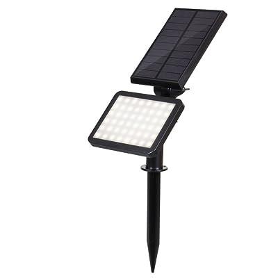 HLL Solaire Lumières De Plein Air Imperméable 2 en 1 Jardin Éclairage pour Sentier Walkway Patio Cour Paysage 2W 3000K Blanc Chaud