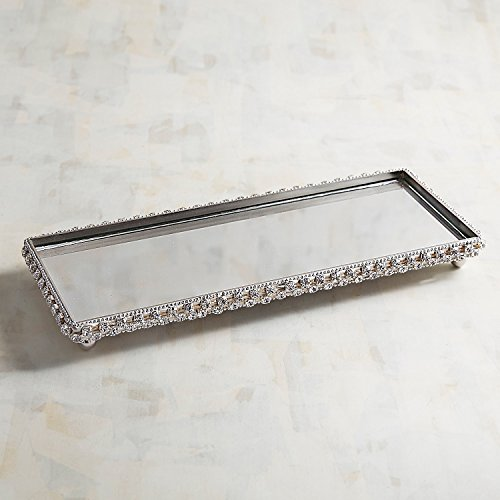 Pier 1 Imports Small Mirrored Glam Bathroom Vanity Tray by by Pier 1 Imports