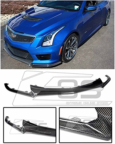 Extreme Online Store Carbon Package Style Front Bumper Lower CARBON FIBER Lip Splitter For 2016-Up Cadillac ATS-V 2016 2017 2018 16 17 18 ATSV