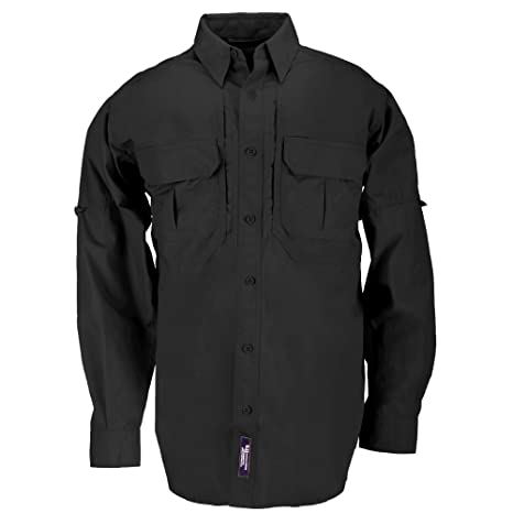 5.11 Tactical  72157 Cotton Tactical Long Sleeve Shirt (Black 6bc55cb746b