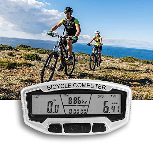 Bike Odometer Set with Wired Extension Mount Backlight Dustproof Waterproof Bicycle Stopwatch Speedometer Bike Tool Alomejor