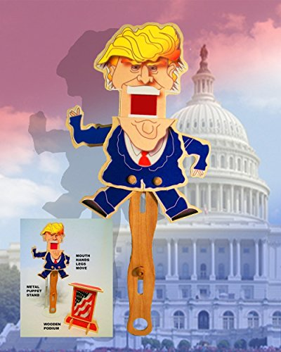 Donald Trump Hand Puppet - with stand and podium