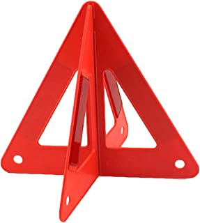 LYCOS3 Folding Car Warning Safety Triangle in Protective Plastic Case/Reflective Red Hazard EU Emergency Breakdown,Emergency Roadside Warning Triangle Reflector For Car, Van,Truck,Lorry