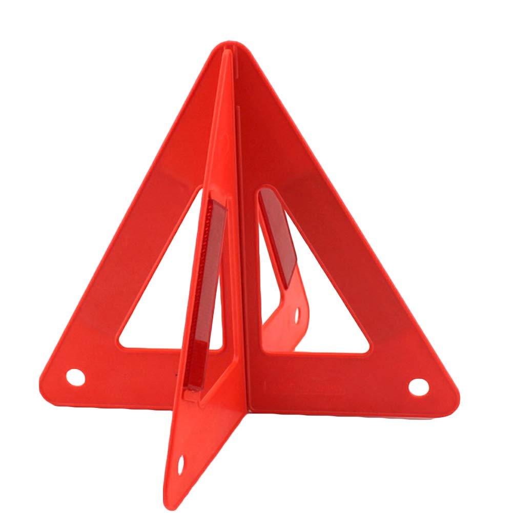JLAKYU7 pieghevole auto allarme di sicurezza triangolo in plastica protettivo/riflettente Red Hazard UE di emergenza rottura, triangolo di sicurezza riflettente per strada di emergenza per auto, furgoni, camion, camion