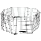 Favorite 8 Panel Dog Playpen Exercise Playpen Pet Kennel, E-Coat Iron Indoor Outdoor Cage Review