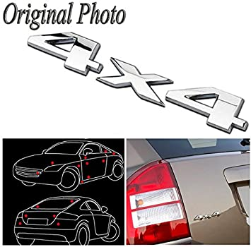 Champled 2 silver chrome 4x4 auto car logo decal emblem sticker for jeep dodge ford truck