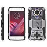 TurtleArmor | Motorola Moto Z2 Force Case | Moto Z2 Play Case [Hyper Shock] Hybrid Dual Layer Armor Holster Belt Clip Case Kickstand – Classic Game Controller Review