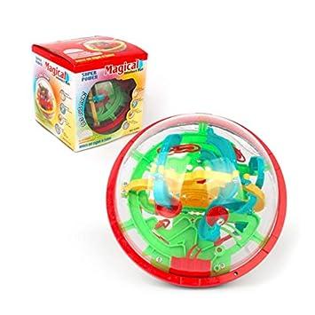 Pelota mágica de plástico 3D para niños de 100 niveles: Amazon.es ...
