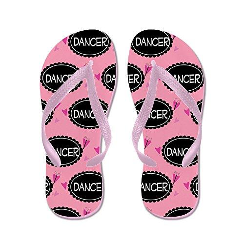 CafePress Cute Dancer Gift - Flip Flops, Funny Thong Sandals, Beach Sandals Pink