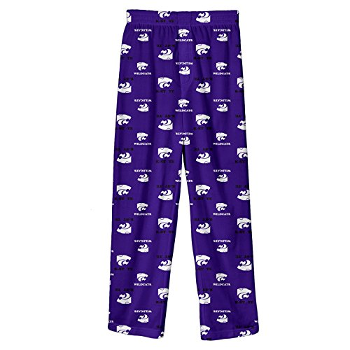 NCAA by Outerstuff NCAA Kansas State Wildcats Youth Boys Team Color Printed Pant, Regal Purple, Youth Medium(10-12)