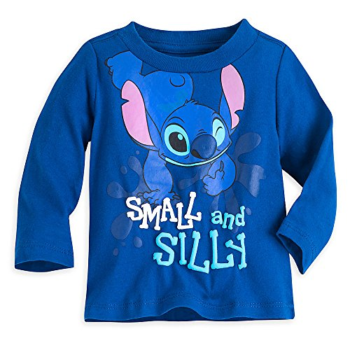 Disney Stitch Tee For Baby Size 6-9 MO Blue by Disney