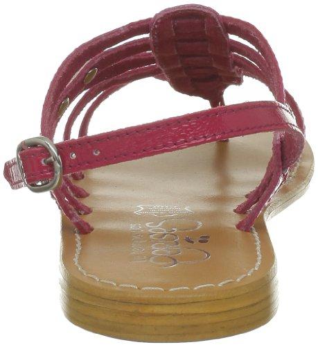 Le Temps Des Cerises - Zapatillas de deporte de cuero para mujer Rosa (Rose (Vernis Fushia))