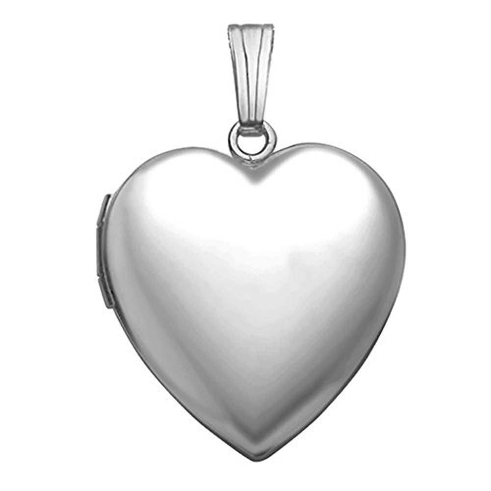 Sterling Silver ''Sweetheart'' Heart Locket - 3/4 Inch X 3/4 Inch
