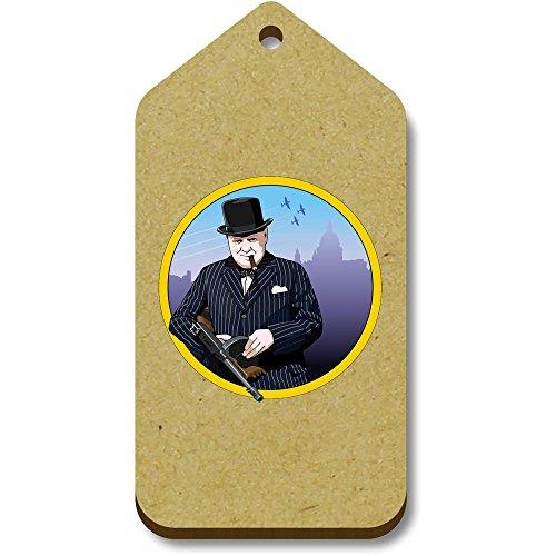 bagagelabels Geschenk Churchill' X Azeeda 66mm 34mm 'Winston tg00071845 10 HaqfU