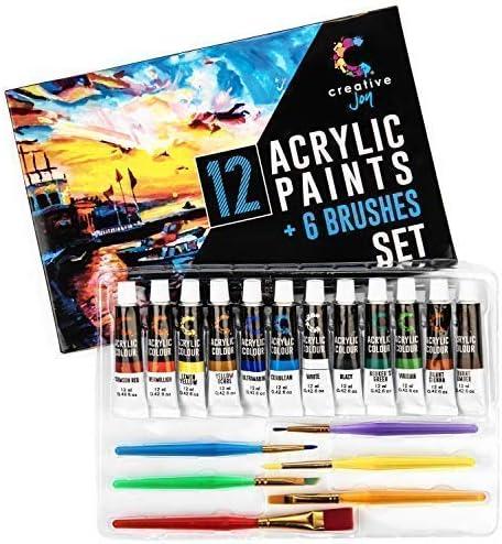 Creative Joy brushes vivid paint and Acrylic paint set