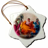 3dRose Mexico, Oaxaca, Mexican Folk Dance 01'' Snowflake Ornament, 3''