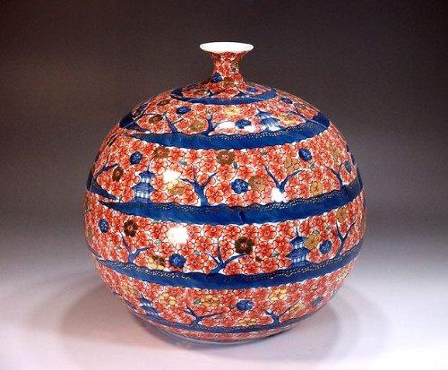 有田焼伊万里焼|花瓶陶器花器壺|贈答品|高級ギフト|贈り物|記念品|金彩桜藤井錦彩 B00HPJ4KFA