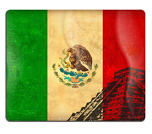 Liili Mouse Pad Natural Rubber Mousepad IMAGE ID: 12023321 Old grunge flag of Mexico background vector