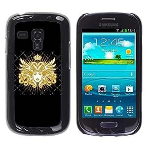 Caucho caso de Shell duro de la cubierta de accesorios de protección BY RAYDREAMMM - Samsung Galaxy S3 MINI NOT REGULAR! I8190 I8190N - Goddess Golden Queen Art Royal Woman
