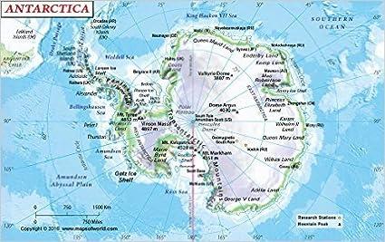 Amazon.com : Antarctica Physical Map (36\