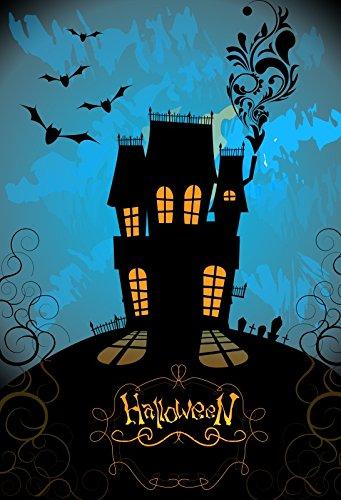 Laeacco Halloween Backdrop 3x5ft Vinyl Photography Background Haunted
