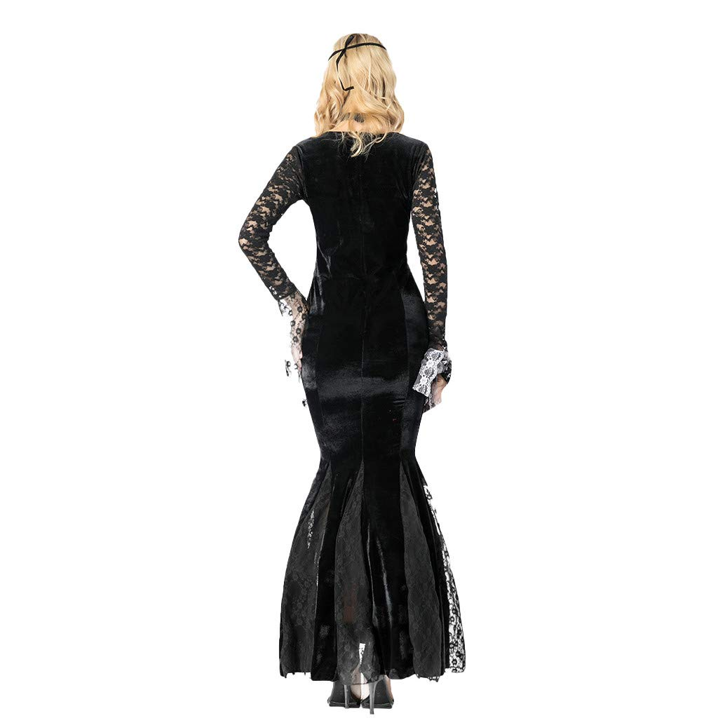 Goosun Disfraz De Carnaval De Lady Halloween Cos Vestido Negro ...