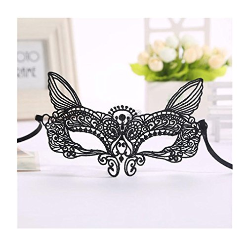Great Halloween Costumes 2016 For Guys (Iuhan® Fashion Halloween Masquerade Sexy Lady Black White Lace Mask hollow out Catwoman (C))