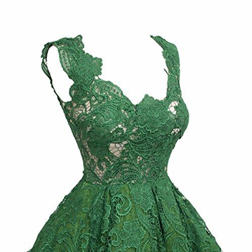 Vestito Verde Scollo Pizzo V Da Corto Ballo Donne A Abito Partito Jaeden Abiti Sera xaOq6qYw