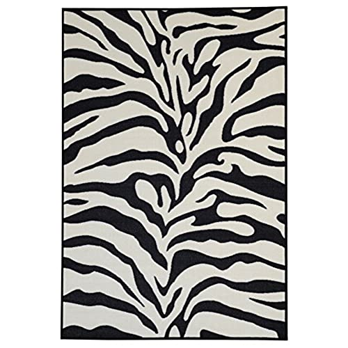 nice black white rug. Anti Bacterial Rubber Back AREA RUGS Non Skid Slip 3x5 Floor Rug  Black White Zebra Print Indoor Outdoor Thin Low Profile Living Room Kitchen Hallways and Rugs Amazon com