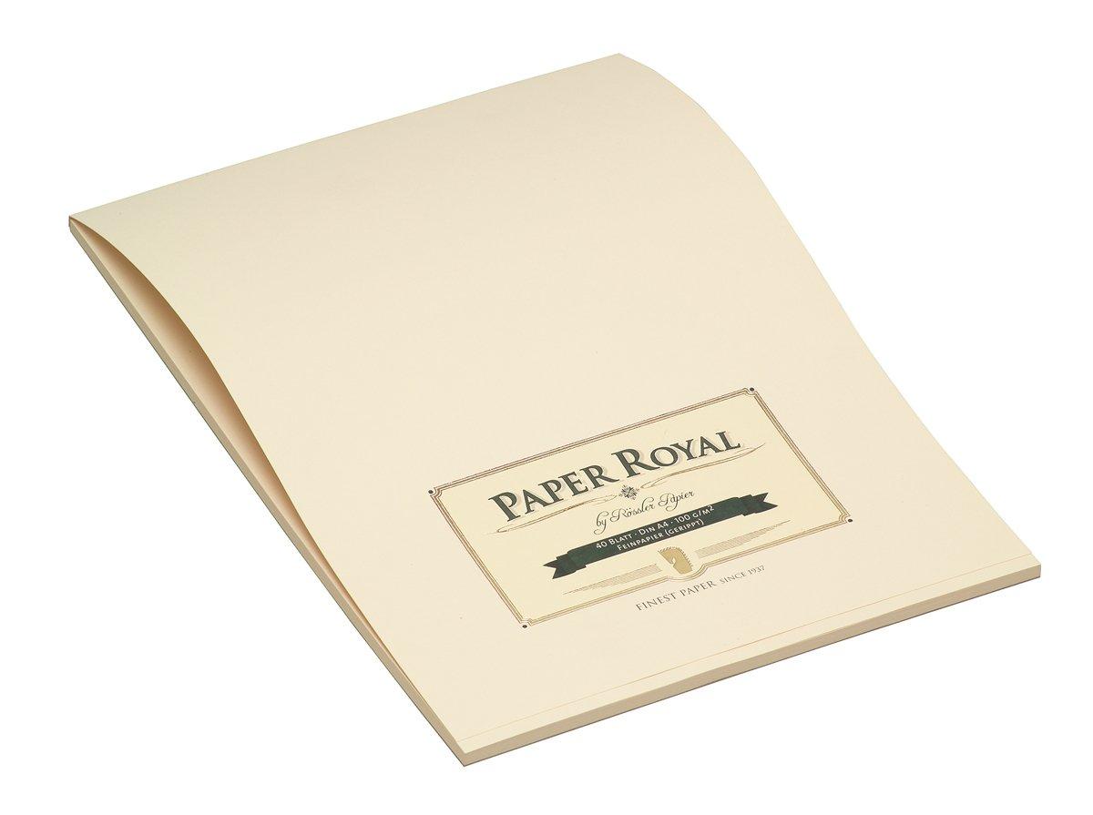 Rössler 2002831008 - Paper Royal - Briefblock A4, 40 Blatt, chamois gerippt 2002831008.0320001 537072
