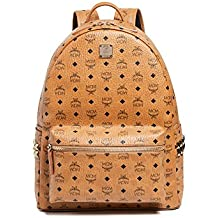 MCM Men's Stark Large Side Stud Backpack, Cognac, One Size