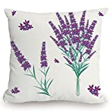 roho cushion toilet seat KissCase Throw Pillow Cushion Cover,Lavender,Aromatic Blossoms Bouquet from Provence France Fragrant Herbal Flora Decorative,Purple Magenta Teal,Decorative Square Accent Pillow Case