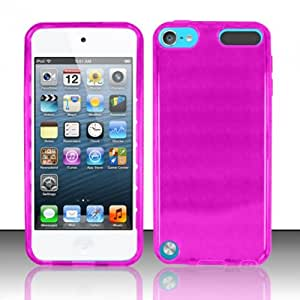 For iPod Touch 5 - TPU Cover Case w/ Argyle Pattern - Hot Pink TPU