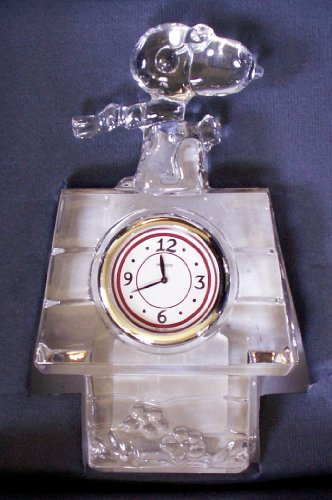 Marquis Waterford Peanuts Snoopy Flying Ace Clock