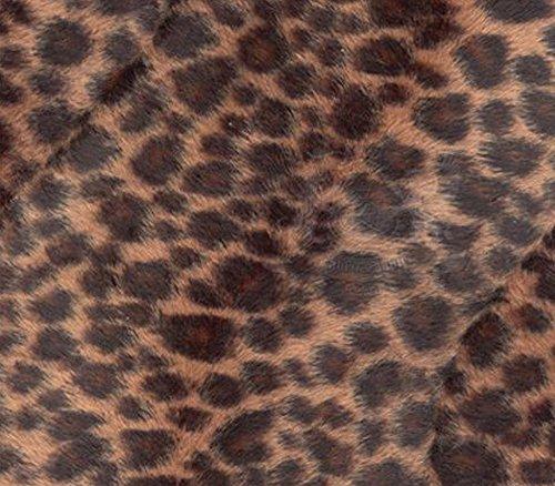 Velboa Fabric Faux Fake Animal Fur Baby Cheetah Chocolate / 60