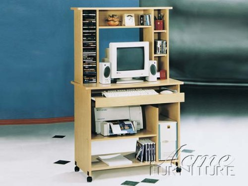 Stand Maple Corner Tv (New Maple Finish Computer Desk ACS008012)