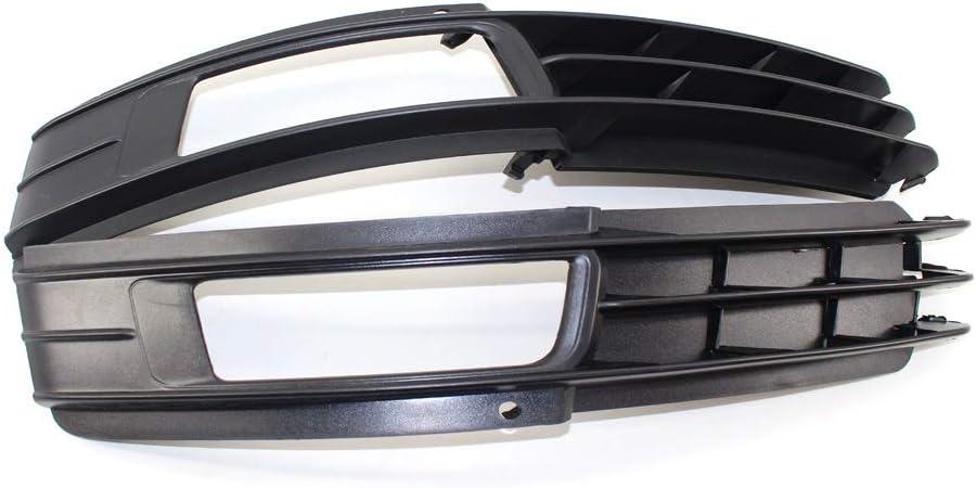 QWERTY Schlagfestigkeit Frontsto/ßstange Nebelscheinwerfer Rahmen Fit for Audi A6 C6 4F 09-11 Frontsto/ßstange Nebelscheinwerfer Lampe Grille Set Nebelscheinwerfer Lampenabdeckung Gitter