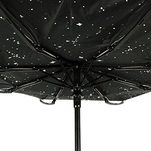 Uvistar日傘晴雨兼用完全遮光自動開閉折り畳み傘?美しい星空UPF50+遮熱5°以上紫外線遮蔽率99.99%UVカット8本骨107cm