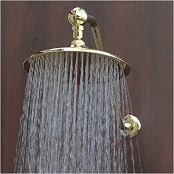 gold rain shower head. Atlantis 1 Gold 10 quot  Rain Shower Head with 13 High Rise Arm