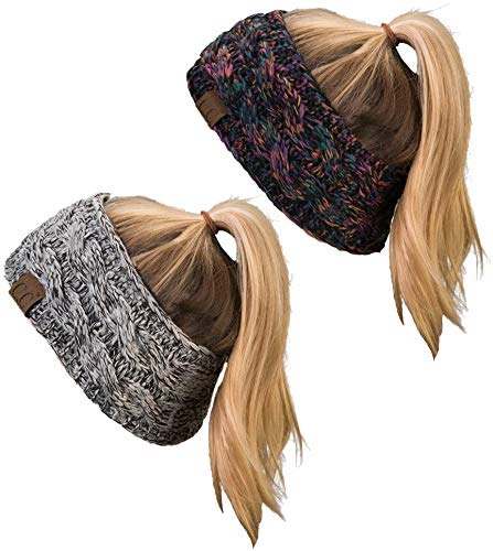 HW-6033-2-816.064121 Headwrap Bundle - 1 Kaleidoscope #32, 1 Grey/Black #31 (2 Pack)