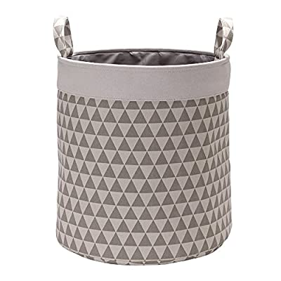 """VuHom 19.7"""" Large Laundry Hamper (Available 19.7"""" and 15.7""""), Drawstring Waterproof Round Cotton Linen Collapsible Storage Basket With Cotton Rope Handles (triangle) - Collapsible Design: Laundry bin can be quickly folded flat for storage when not in use, so you get the most use of every space. Multi-Use Laundry Hamper: Clothes Storage, Home Textiles Storage, Toy Storage, Baby Product's Storage and Pet Product's Storage. Material: Cotton & Linen Canvas + Waterproof PE Coating. - laundry-room, hampers-baskets, entryway-laundry-room - 51rRvax1EpL. SS400  -"""