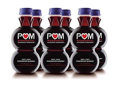 POM Wonderful Pomegranate Blueberry, 100% Juice, 16-Ounce, 6 Count