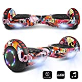 CHO Electric Smart Self Balancing Scooter Hoverboard Built-in Speaker LED Wheels Side Lights- UL2272 Certified (-Fish)