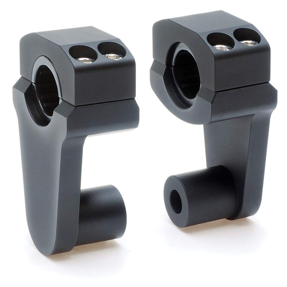 Pivoting Handlebar Clamp Risers - APE Racing Universal Motorcycle 2'' Raise Clamps For 7/8'' or 1 1/8'' Handlebars Mount To 7/8'' Stem Clamp by APE RACING