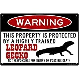 FemiaD Leopard Gecko Sign,Funny Metal Signs,Leopard