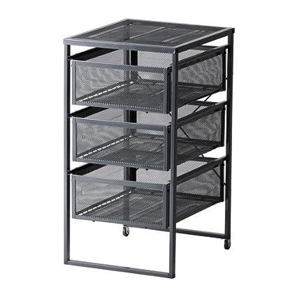 Ikea Lennart - Cajonera, color gris oscuro: Amazon.es: Hogar